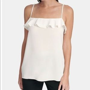 DKNY Sexy Dress Suit Top White Camisole Size Large